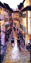 A Florence Street in the Rain - Constantin Alexeevich Korovin
