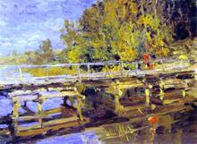 Autumn On Bridge
