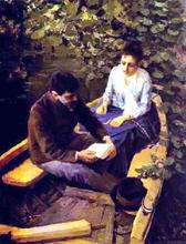 In a Boat (Portrait of the Artist Maria Yakunchikova and Self-Portrait)