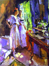 In Front of the Open Window - Constantin Alexeevich Korovin