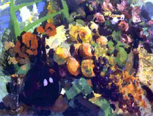 Still Life, Wine and Fruit - Constantin Alexeevich Korovin