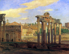 The Arch of Septumius Severus and the Temple of Concord - Constantin Hansen