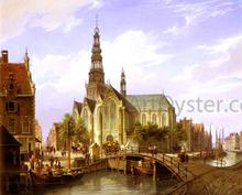 A Capriccio View Of Amsterdam - Cornelis Christiaan Dommelshuizen