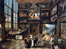 Interior of a Collector's Gallery of Paintings and Objects d'Art