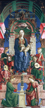 Madonna with the Child Enthroned (panel from the Roverella Polyptych)