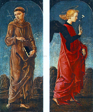 St Francis of Assisi and Announcing Angel (panels of a polyptych)