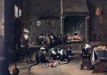 Apes in the Kitchen - The Younger David Teniers