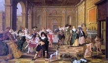 Banquet Scene in a Renaissance Hall - Dirck Hals