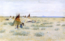 Camp of Standing Bear - Dwight W Huntington