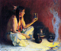 A Taos Indian and Pottery