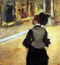 A Visit to the Museum - Edgar Degas
