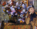A Woman Seated Beside a Vase of Flowers (also known as Sardela)