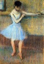 Dancer in Blue at the Barre - Edgar Degas