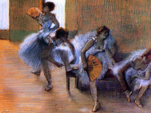 In the Dance Studio - Edgar Degas