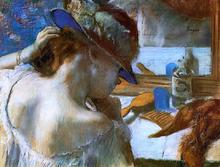 A Mirror - Edgar Degas
