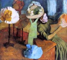 A Millinery Shop - Edgar Degas