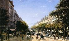The Boulevad des Italiens, Paris - Edmond-Georges Grandjean