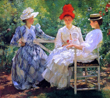 In a Garden (also known as The Three Sisters - A Study of June Sunlight)