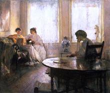 Three Girls Reading