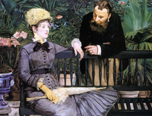 In the Conservatory - Edouard Manet