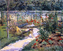 The Bench (also known as My Garden) - Edouard Manet