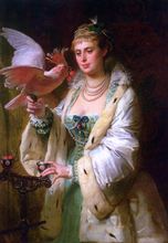 A Treat for her Pet - Edouard-Marie-Guillaume Dubufe