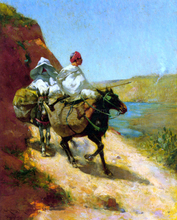 On a Mountain Path - Edward Aubrey Hunt