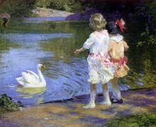 Swans Paintings