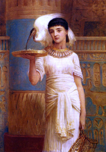 Alethe, Attendent of the Sacred Ibis - Edwin Longsden Long