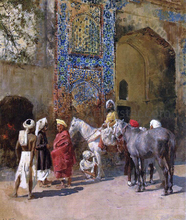 Blue-Tiled Mosque at Delhi, India - Edwin Lord Weeks
