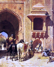 Gate of the Fortress at Agra, India - Edwin Lord Weeks