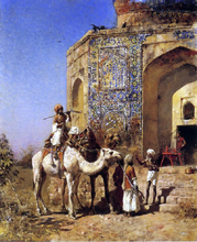 Old Blue-Tiled Mosque, Outside of Delhi, India - Edwin Lord Weeks