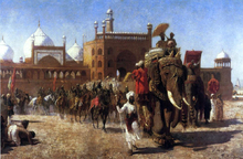 The Return of the Imperial Court from the Great Mosque at Delhi, in the Reign of Shah Jehan - Seventeenth Century - Edwin Lord Weeks