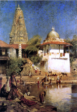 The Temples and Tank of Walkeshwar at Bombay - Edwin Lord Weeks