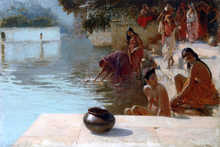 Woman's Bathing Place i Oodeypore, India - Edwin Lord Weeks