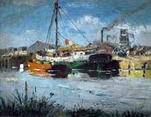 Rio con Barcos - Eliseo Meifren I Roig