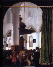 A Sermon in the Oude Kerk, Delft - Emanuel De Witte