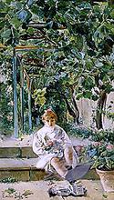 Nina en el Jardin