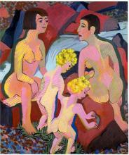 Bathing Women and Children