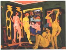 Bathing Women in a Room