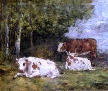 A Norman Pasture - Eugene-Louis Boudin