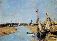 Trouville, the Jettys at Low Tide - Eugene-Louis Boudin