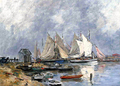 Trouville, the Port, Boats and Dinghys