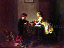 Children Playing with a Guitar - Felix Schlesinger