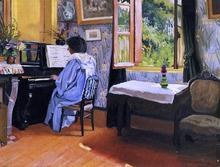 A Lady at the Piano - Felix Vallotton