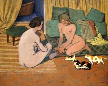 Naked Women To Cats - Felix Vallotton