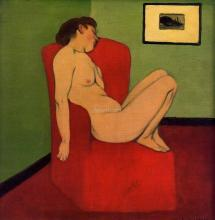 Seated Female Nude - Felix Vallotton