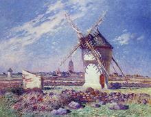 Windmills near the Town of Batz - Ferdinand Du Puigaudeau