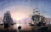 Boston Harbor at Sunset - Fitz Hugh Lane