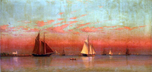 Evening in Gloucester Harbor - Francis A Silva
